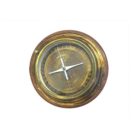 - Rustic Brass Directional Desktop Compass 6''
