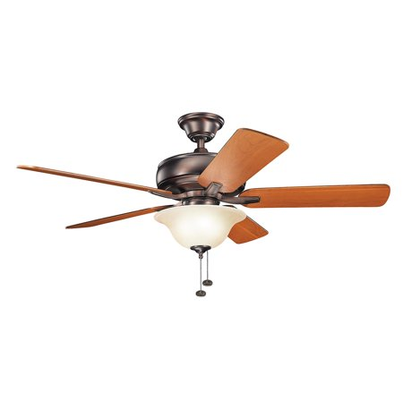 52 Inch Steel Wall - Indoor Ceiling Fans Light With Oil Brushed Bronze Tone Finish Steel Material 52 inch
