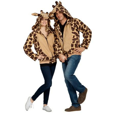 Georgie Giraffe Hoodie Adult Costume](Dog In Giraffe Costume)