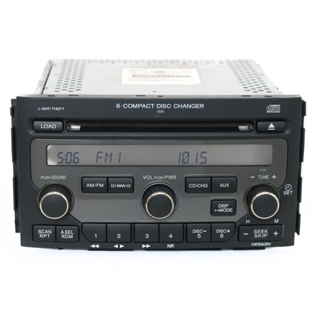 2006 2008 Honda Pilot Am Fm Radio 6 Disc Cd Player Face 1tv5 Part 39100 Stw A200 Refurbished