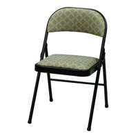 Fabric double padded folding chair - Zuni and black frame