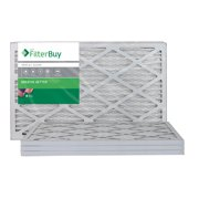 FilterBuy 16x20x1, Pleated HVAC AC Furnace Air Filter, MERV 8, AFB Silver, 4-Pack