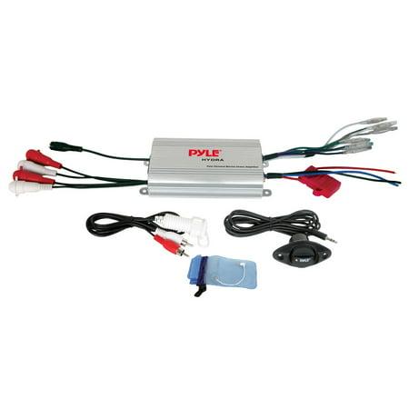 Pyle PLMRMP3A - 4 Channel Waterproof MP3 Marine Power Amplifier