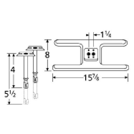 Stainless Steel Burner Replacement for Select Thermos Gas Grill Models Stainless steel H twin burner with 1-1/4-Inch offset gas inlets for Gas Grill Models Thermos 9610, Thermos 9615, Thermos 9615B, Thermos 9616, Thermos 9616A, Thermos 9620, Thermos 96202A, Thermos 96202B, Thermos 9620BListing is for a twin burner head and two venturis.15.875 x 8 inch stainless steel H twin burner with 1.25 inches offset gas inlets with 5.125 inch venturisFits Thermos 9610, 9615, 9615B, 9616, 9616A, 9620, 96202A, 96202B, 9620B