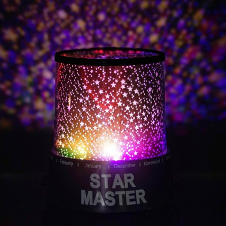 - Efavormart Starry Galaxy Sky Projector Cosmos Romantic Color Changing LED LAMP Gift Set