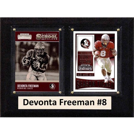 C   I Collectables Ncaa 6  X 8  Devonta Freeman Florida State Seminoles 2 Card Plaque