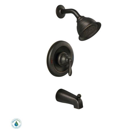 Moen 82496EP Posi-Temp Pressure Balanced Tub and Shower Trim with 2.0 GPM Shower Head and Tub Spout from the Caldwell Collection (Valve Included) ()