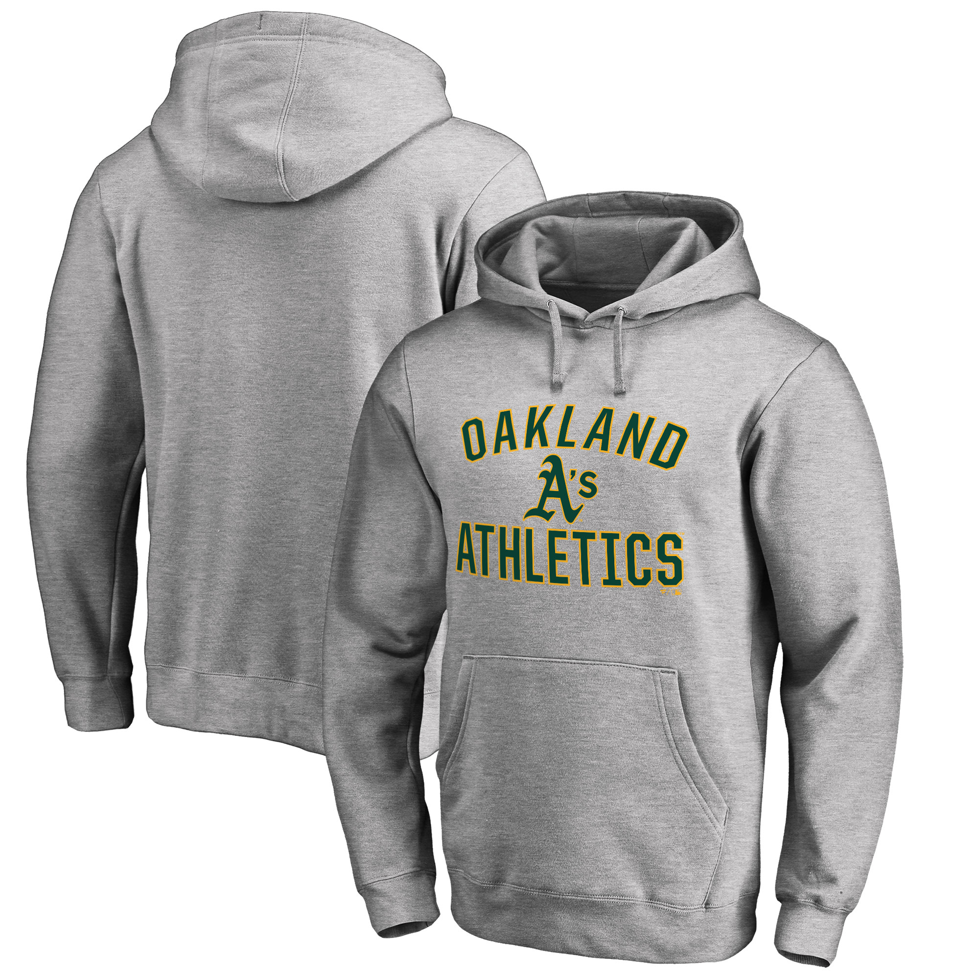 Oakland Athletics Big & Tall Victory Arch Pullover Hoodie- Ash