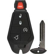 KeylessOption Keyless Entry Remote Control Car Key Fob Starter Alarm M3N5WY783X IYZC01C for 2008-2013 Jeep Grand Cherokee Commander Fobiks