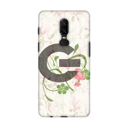 OnePlus 6 Case - Floral Vines- G, Hard Plastic Back Cover, Slim Profile Cute Printed Designer Snap on Case with Screen Cleaning Kit - Halloween Vines Clean