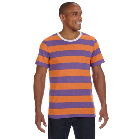 AA1935J Alternative Apparel T-Shirt Crewneck Ugly Stripe Men's - 1960 Clothes
