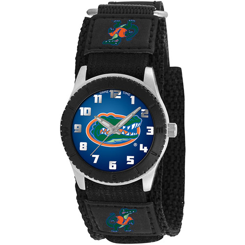 Game Time NCAA Kids' University of Florida Gators Rookie Series Watch, Black Velcro Strap