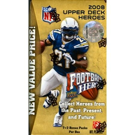2008 Upper Deck Heroes Football Blaster Box