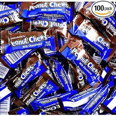 Goldenberg's Peanut Chews - Milk Chocolatey 2lb Bulk Bag From (Jersey Candy) - Bulk Candy Bags