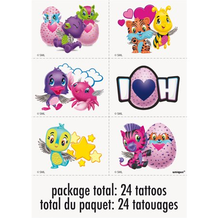 Hatchimals Temporary Tattoos, 24ct (Pumpkin Tattoos)