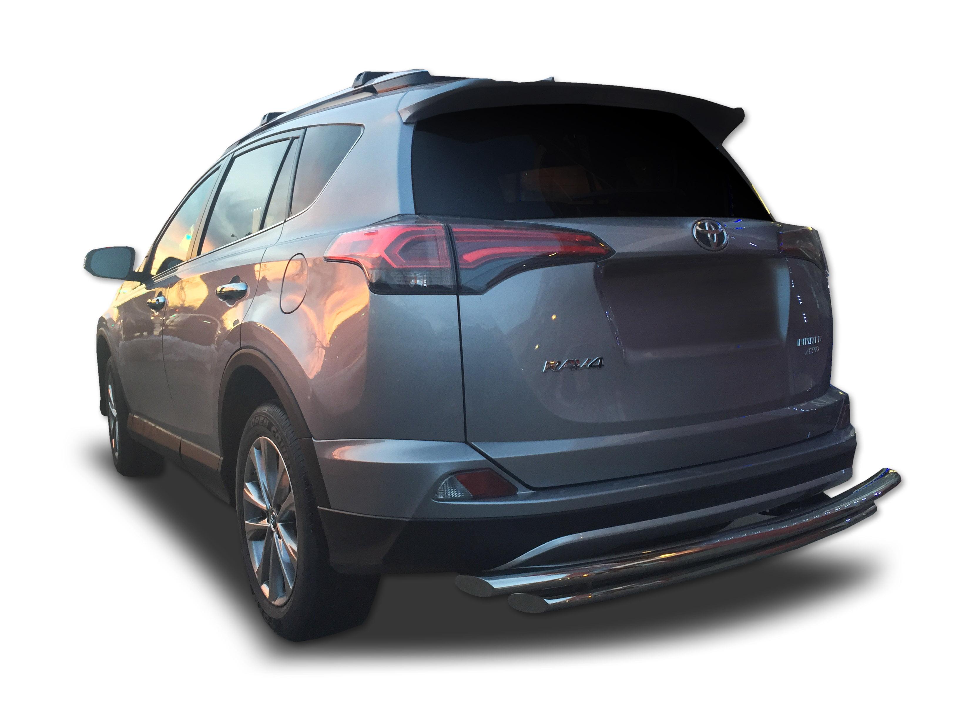stainless steel Genuine Toyota RAV4 Rear bumper protection plate