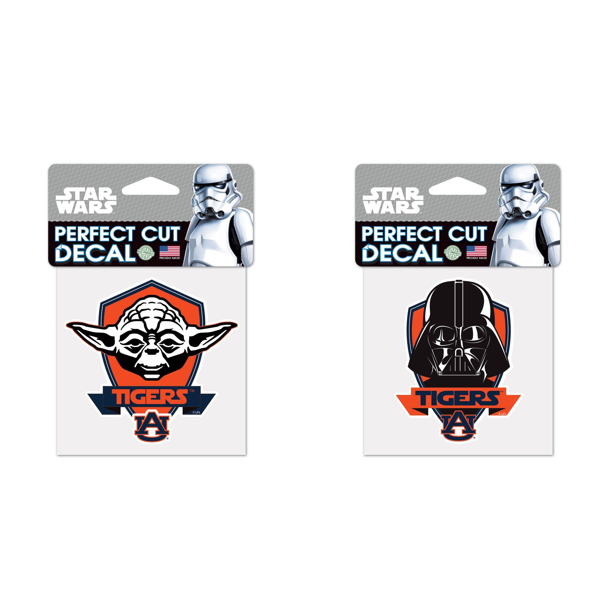 Auburn Tigers NCAA Star Wars Darth Vader Die Cut Car Decal And Yoda Bundle 2 Pack