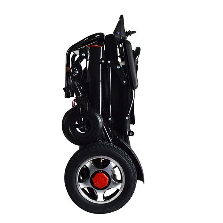 (New Lightweight Folding Remote Control Electric Wheelchair Motorized, only 50 lbs Supports up to 350 lbs, FDA Approved (Black))
