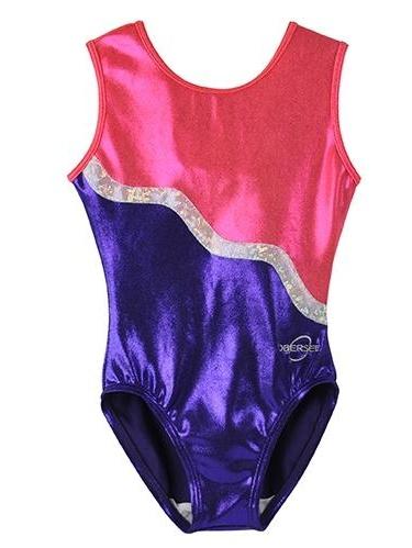 O3GL018 Obersee Girl's Girls Gymnastics Leotard - Purple Ribbon
