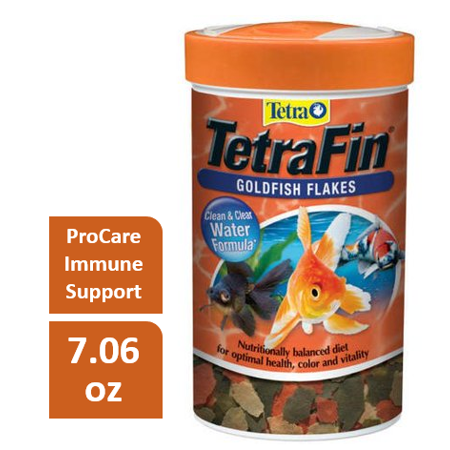 Goldfish Sinking Pellets Fish Food (Tetra TetraFin Goldfish Flakes with ProCare, Goldfish Food, 7.06)