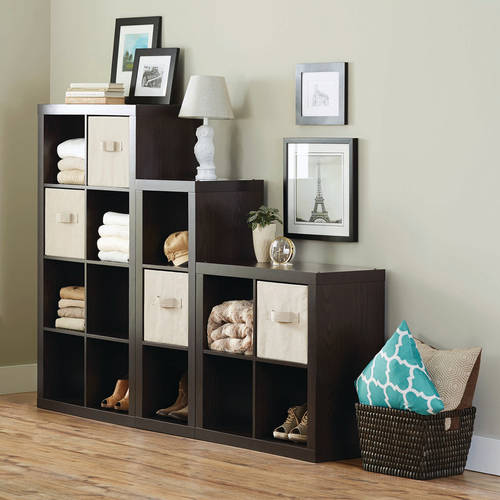 Better Homes and Gardens 15-Cube Organizer, Staggered Wall Unit, Multiple Colors