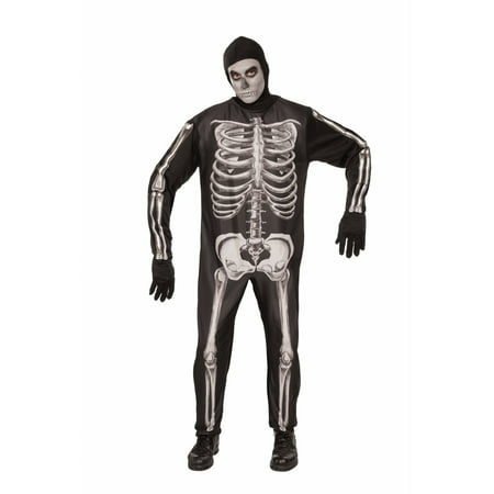 Halloween Skeleton Adult Costume - Plus Size Womens Skeleton Costume