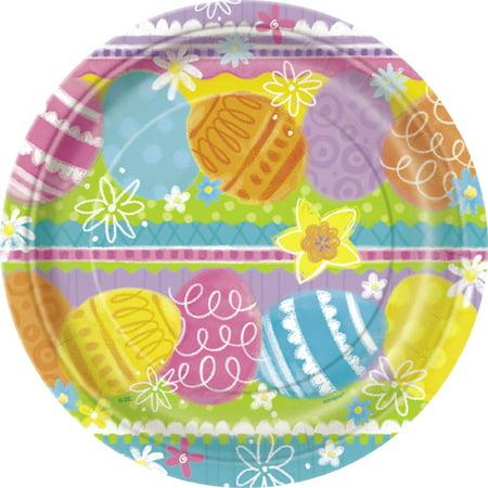 Easter Spring Eggs Dessert Plates - Faberge Egg Plates