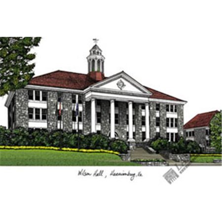 James Madison University Lithograph (James Madison University Campus Images Lithograph Print)