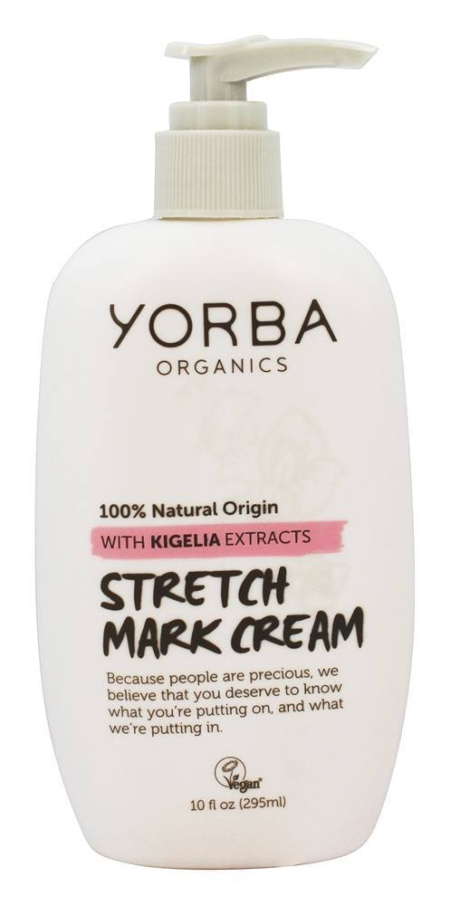 Yorba Organics - Stretch Mark Cream with Kigelia Extracts - 10 oz. Yes To Blueberries Smoothing Cleanser, 4.5 Ounce + Curad Dazzle Bandages 25 Ct