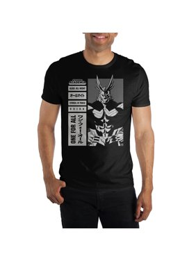 51463855104007 Product Image MHA My Hero Academia All Might Symbol Of Peace Men s Black  T-Shirt Tee Shirt
