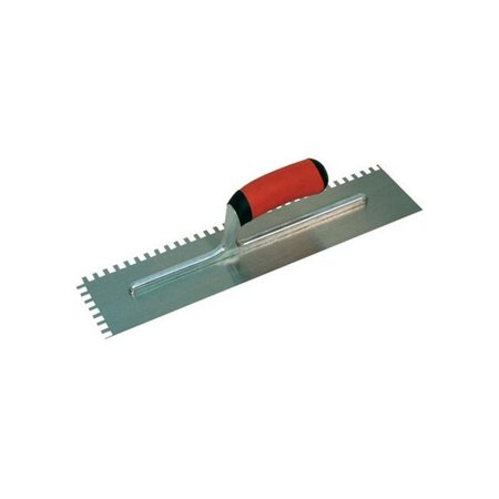 NT670 11 x 4.5 in. Aluminum Alloy Notched Trowel