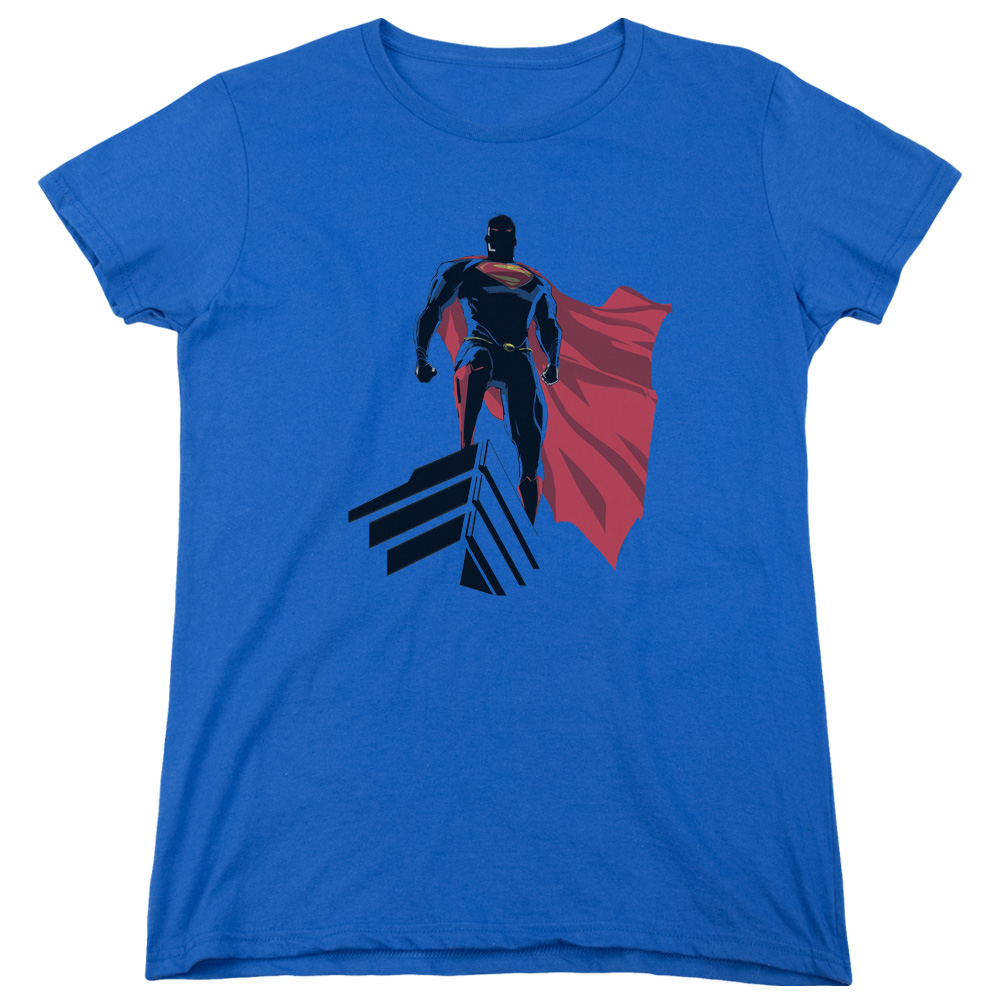 Man of Steel Superman The Watcher Womens Short Sleeve Shirt