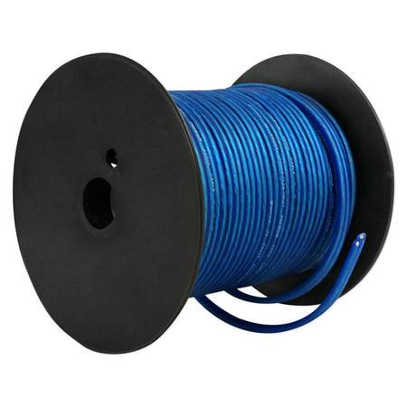 Rockville R14GBLU100 Blue 14 Gauge 100' Foot Mini Spool Car Audio Speaker Wire