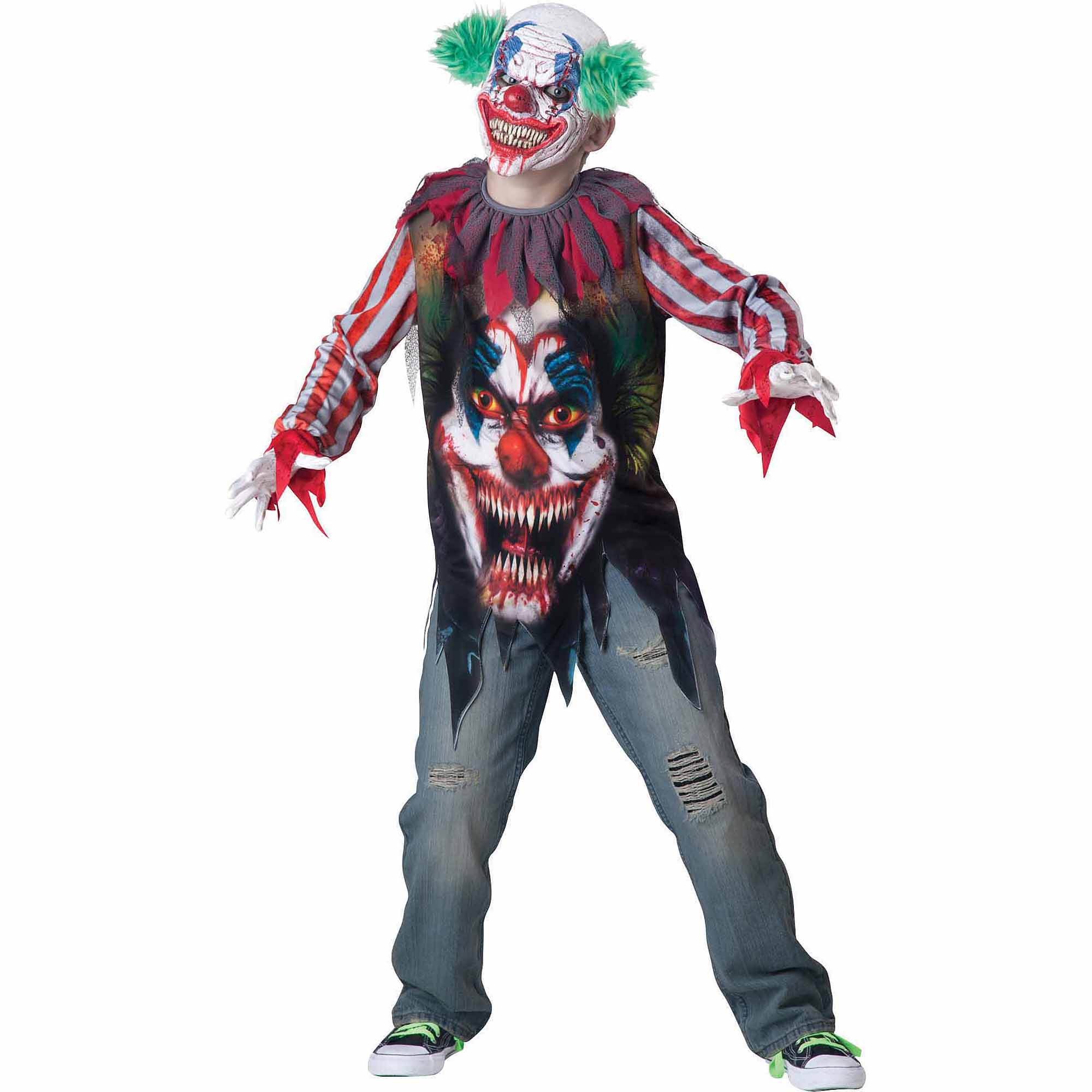 Big Top Terror Child Halloween Costume  sc 1 st  Walmart : top kid halloween costumes  - Germanpascual.Com