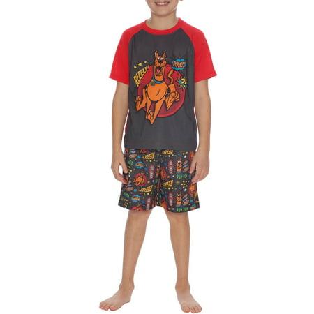 Scooby Doo Boys  Short Sleeve 2 Piece Pajama Short Set - Walmart.com c351456f9
