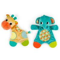 Bright Starts Snuggle & Teethe Plush Teether Toy - Assortment, Ages Newborn +