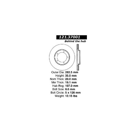 Go-Parts OE Replacement for 1977-1988 Porsche 924 Front Disc Brake Rotor for Porsche 924 (Base / Turbo)