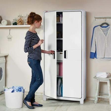 Free Standing Plastic Tall Storage Cabinet