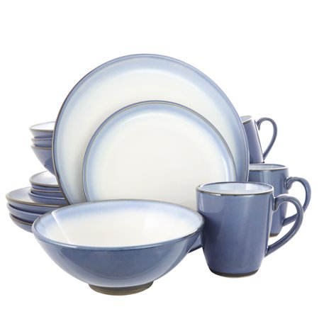 G16-Piece Dinnerware Set, Blue Cobalt Blue Dinnerware Set