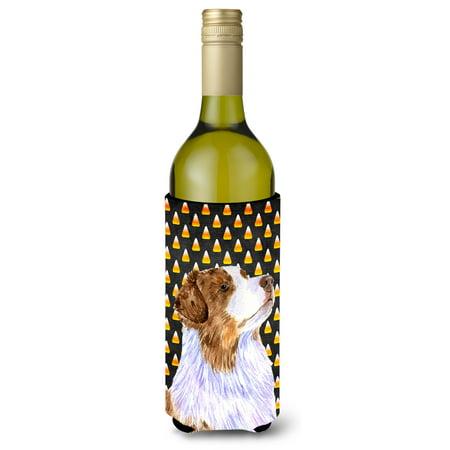 Australian Shepherd Candy Corn Halloween Portrait Ultra Beverage Insulators for slim cans LH9059MUK