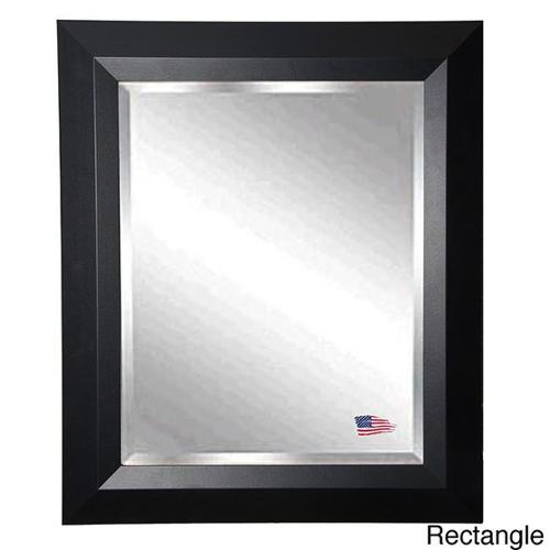 American Made Rayne Black Angle Wall Mirror 39.5 x 45.5