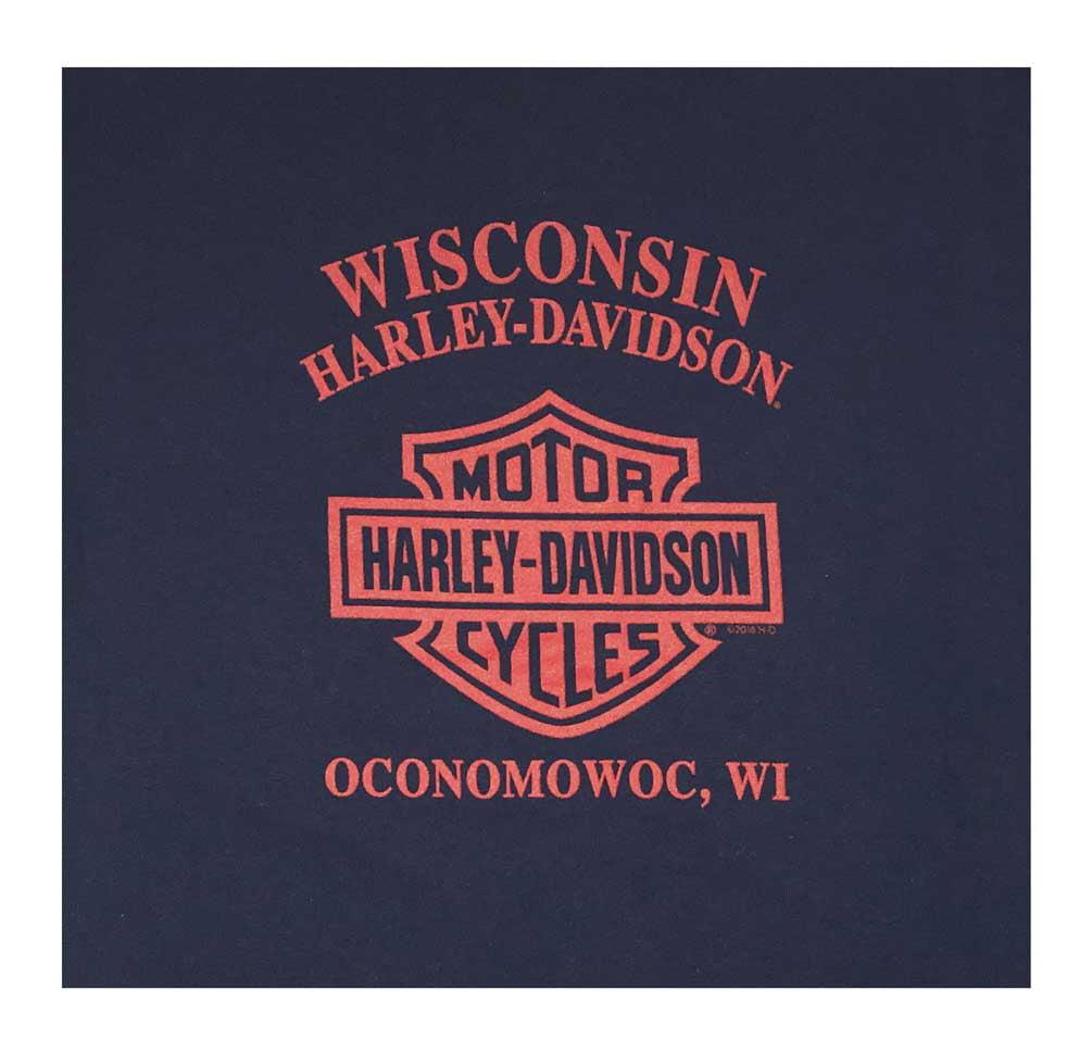 Harley-Davidson Big Boy/'s Champion Rider Short Sleeve Crew-Neck Tee Navy