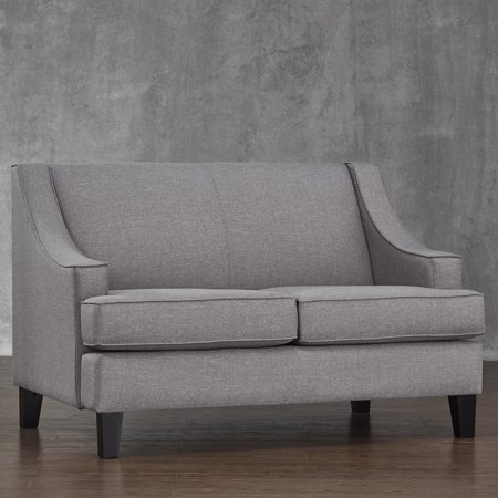 Fabulous Chelsea Lane Loveseat Gray Linen Creativecarmelina Interior Chair Design Creativecarmelinacom