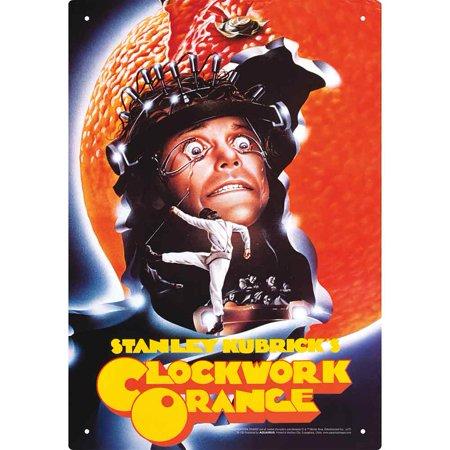 A Clockwork Orange Tin Sign - Metal Decor From Stanley Kubrick Movie Artwork ()