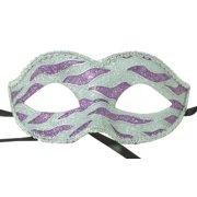 Naughty Petite Mardi Gras Costume Mask - Purple/Silver