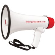 pyle pro pmp48ir 40-watt professional megaphone/bullhorn with handheld microphone/siren, rechargeable battery & auxiliary jack pet2