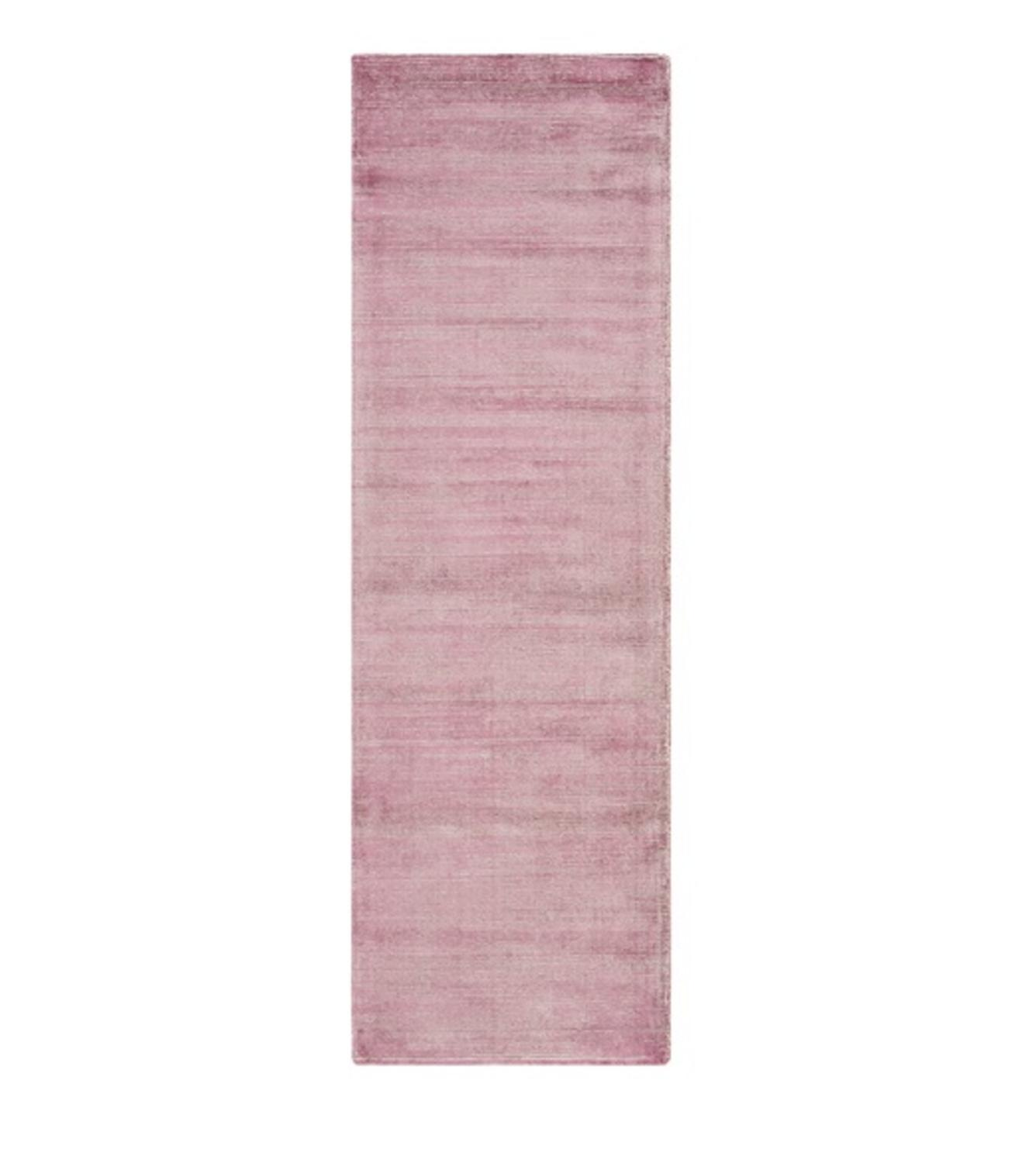 """2.5"""" x 8' Faded Comfort Dusty Rose and Lion Brown Hand Lo..."""