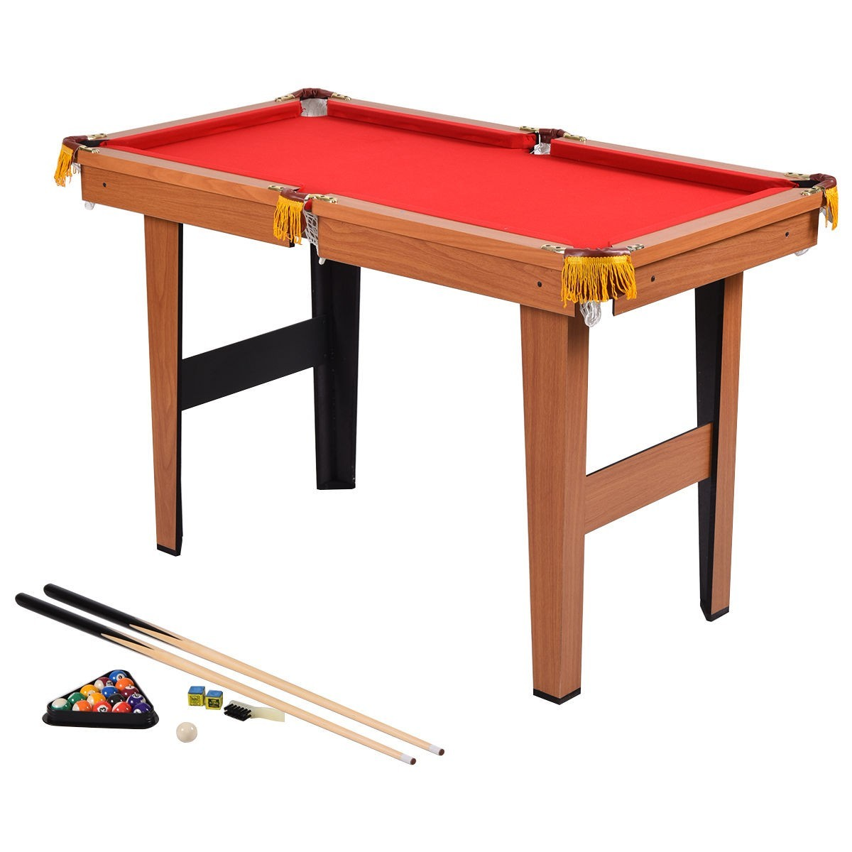 48 Mini Table Top Pool Table Game Billiard Set Cues Balls Gift Indoor Sports