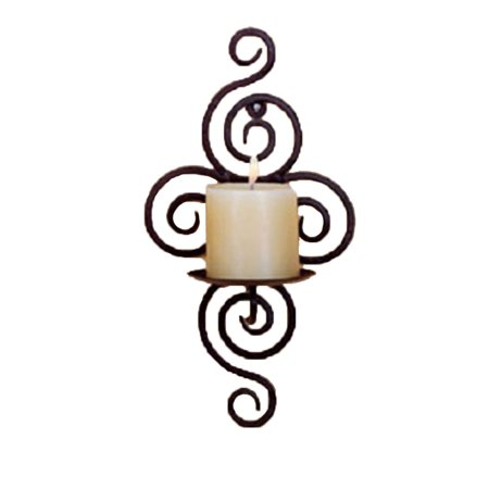 Iron Candle Holder Sconce Hanging Wall Art Candlestick for Decoration Weddings Wall Sconce Iron Candle Holder