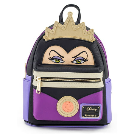 Loungefly Disney Evil Queen Snow White Wicked Female Villains Mini Backpack (Female Disney Villains)